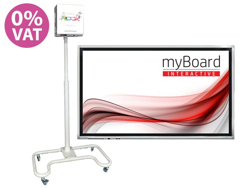 "Monitor interaktywny myBoard Grey D-LED 65"" + podłoga interaktywna Smartfloor"